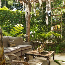 eclectic patio by Shannon Ggem ASID- Ggem Design Co LLC
