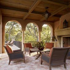 Mediterranean Patio by Alderson Construction