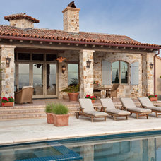 Mediterranean Patio by Tom Meaney Architect, AIA