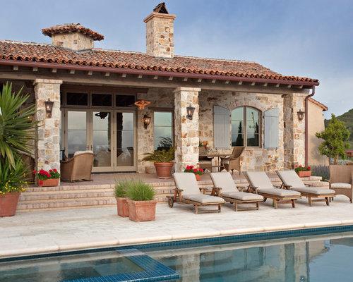 Mediterranean roof terraces home design ideas photos for Home designs and granite santa barbara