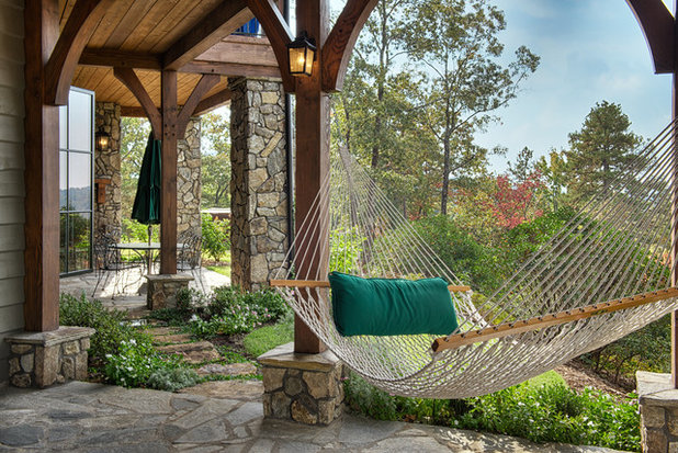 Rustic Patio by ARCON Architects & Builders, LLC