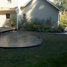 contemporary patio by L&S Concrete Inc