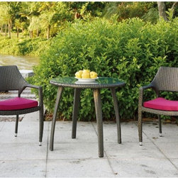 Patio Bistro Table and Chair Set - Outdoor bistro table and chair set.