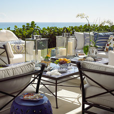 Beach Style Patio by Cindy Ray Interiors, Inc.
