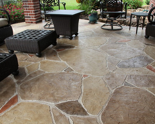 4 000 Patio With Stamped Concrete Design Ideas Amp Remodel