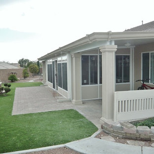 Arts And Crafts Backyard Concrete Patio Photo In Las Vegas With An Awning
