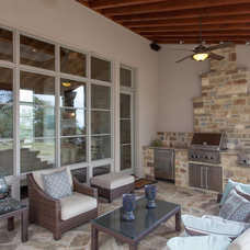 Mediterranean Patio by David Mills Custom Homes