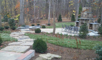 Patio, fireplace, gas fire pit, & walkway