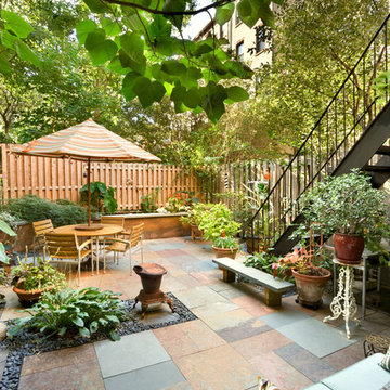 Patio, Historic Townhouse, Brooklyn, New York
