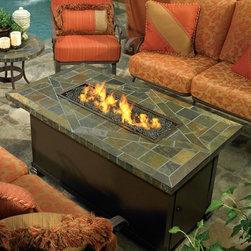 Largo Outdoor Fire Pit Table - Largo rectangular outdoor fire pit table is 36'' x 58''.