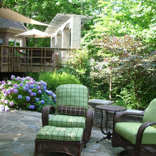 Traditional Patio by Julie Sandman Interiors