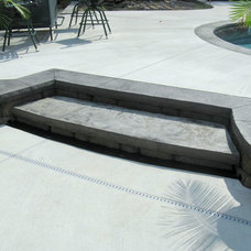 Traditional Patio by Artistic Concrete Design