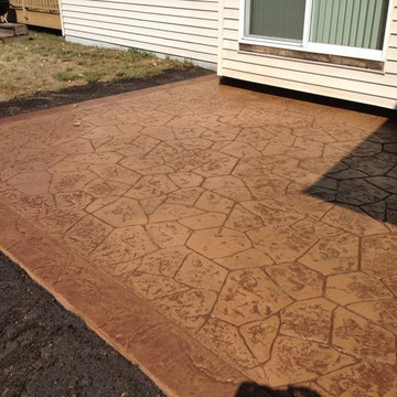 Patio- rock faced stamped pattern with seamless border