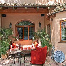 Eclectic Patio by Hayne Architects