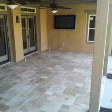 Mediterranean Patio by tactical tile