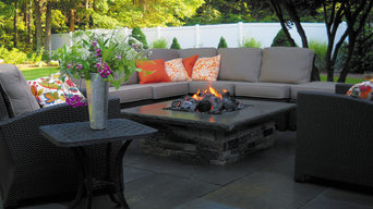 Patio with Bluestones & Fire Pit