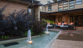 Patio with Fountain focal point