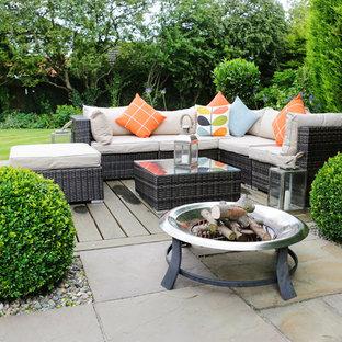 Patio with Hardwood deck, verandah and sofa