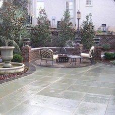 Eclectic Patio by Luck Stone Center