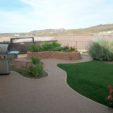 Traditional Patio by Pebble Stone Coatings