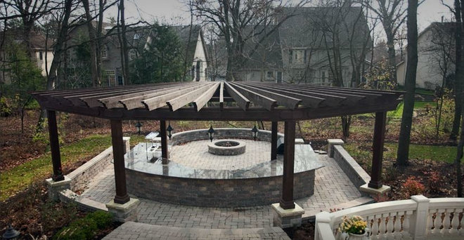 Traditional Patio by Muellner Construction Inc
