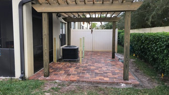 Paver Install - Satellite Beach for Secure Fence and Rail