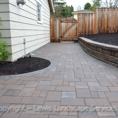 contemporary patio by Lewis Landscape Services, Inc.