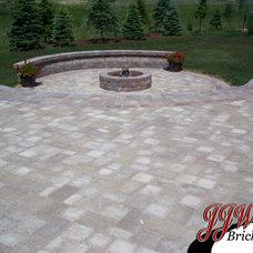 Traditional Patio by JJW Brick.com