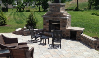 Paver Patio, Fireplace, Plantings, & Lighting