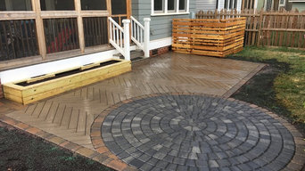 Paver Patio, HVAC Screen, and Raised Planter Bed
