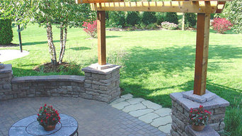 Paver Patio, Sitting Wall and Pergola