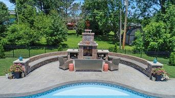 Paver Pool Deck & Fire Place