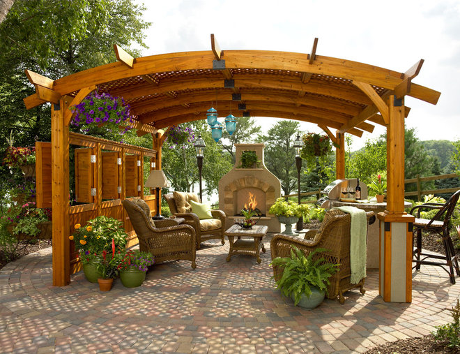 Traditional Patio by The Columbus Coal & Lime Co