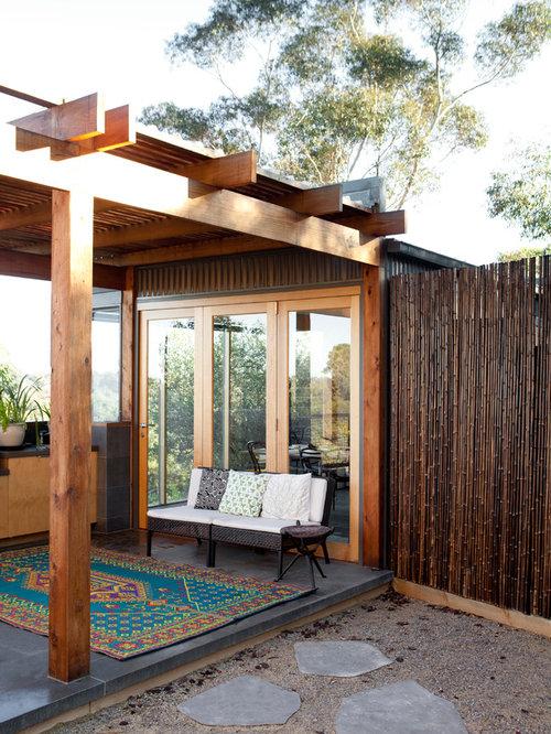 Bamboo Pergola Houzz