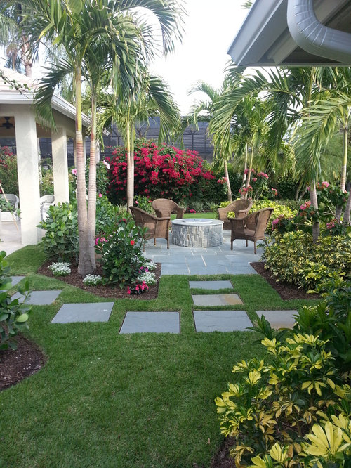 Full Garden In Backyard: Tropical Full Sun Garden Design Ideas, Renovations & Photos