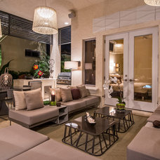 Contemporary Patio by Barbara Rooch Interior Environments, Inc.
