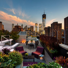 Contemporary Patio by BarlisWedlick Architects, Tribeca Studio