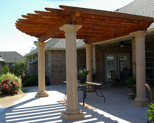 mediterrane pergola in oklahoma city ideen design. Black Bedroom Furniture Sets. Home Design Ideas