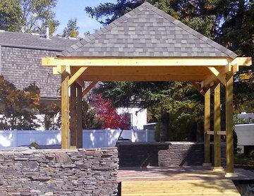 Pergola and Outdoor BBQ area