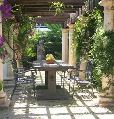 mediterranean patio by BRADANINI & ASSOCIATES