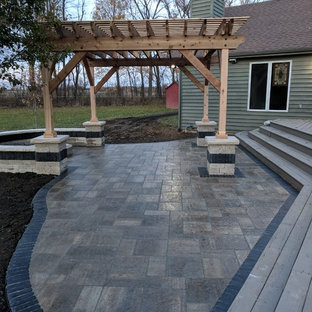 75 Beautiful Transitional Stamped Concrete Patio Pictures ...