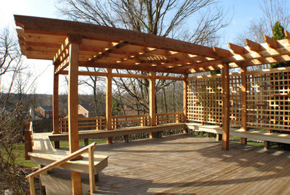 Traditional Patio by Sawdust Therapy