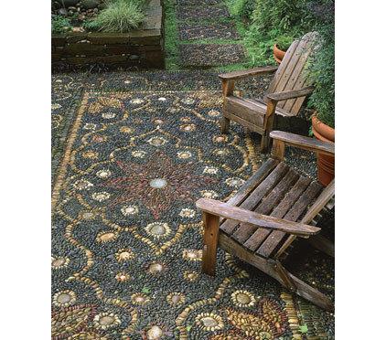 Patio Persian Rug Mosaic Patio Photo by: Allan Mandell