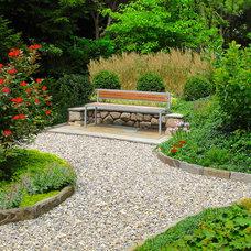Contemporary Patio by Seventy Acres Landscape Architecture & Design