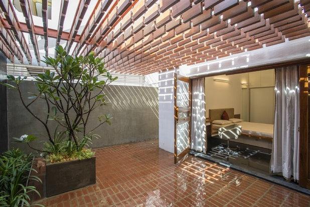 コンテンポラリー テラス・中庭 by Architecture Paradigm