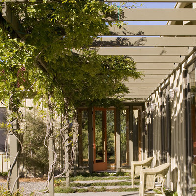 Inspiration for a contemporary patio remodel in San Francisco with a pergola