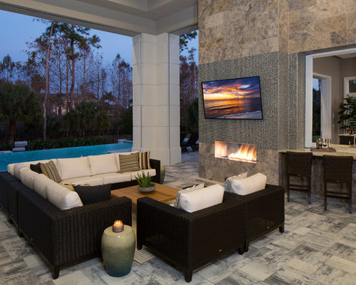 Outdoor Fireplace Design Ideas | Houzz