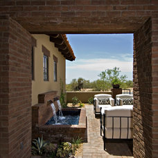 Mediterranean Patio by Simpson Design Associates, LLC