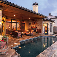 Mediterranean Patio by Sterling Custom Homes