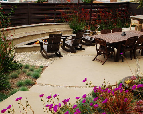 colored concrete patio houzz